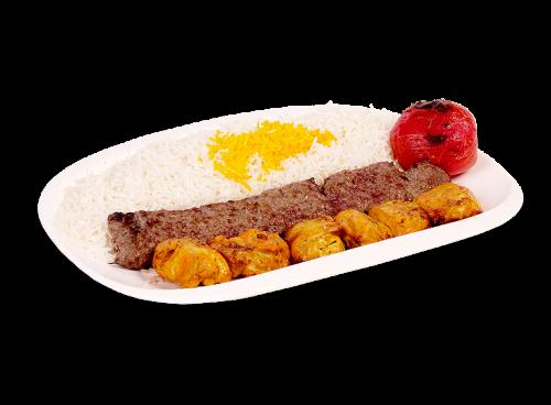 Vaziri Kabob (Koobideh & Chicken Leg Kabob)
