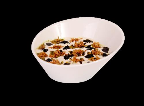 Veggie Soup (Persian Noodle, Chick Peas, Beans, Kashk & Fresh Herbs)